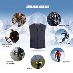 Our electric heated vest jackets are specially designed to be worn in any weather conditions. This is the lightweight, versatile heated jacket vest and provides you the perfect balance of warmth, weight, and style. Winter Fashion Boots, Ski Fashion, Winter Outfits, Winter Vest, Ootd Winter, Winter Snow, Heated Jacket, Snowboard Girl, Snow Outfit