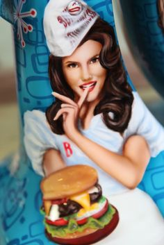 Michael Elins Pinup on KitchenAid Mixer - Custom Painted Airbrush Art, Kitchen Aid Mixer, Custom Paint, Pin Up, Custom Design, House Design, Disney Princess, Mixers, Kitchenaid