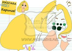 Plantillas Princesas Disney Rapunzel