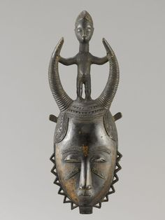 Yaure MASK Ivory Coast. H 46.5 cm.  Provenance: Private Collection German.