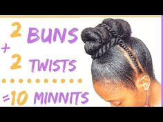 This double twisted bun and flat twist updo is an easy protective style that only takes about 10 minutes! It's a cute, quick natural hair style that's. Black Hairstyles With Weave, Braided Bun Hairstyles, Bun Updo, Wedding Hairstyles, Ladies Hairstyles, Dance Hairstyles, Protective Hairstyles For Natural Hair, Natural Hairstyles For Kids, Natural Hair Updo