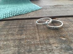 Sterling Silver Stacking Name Rings Mother's Rings   Etsy Silver Stacking Rings, White Gold Rings, Sterling Silver Rings, Hand Stamped Metal, Name Rings, Mother Rings, Thumb Rings, Engagement Ring Settings, Metal Stamping