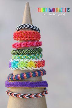 Make // Rainbow Loom Bracelets... A Tutorial Round-up
