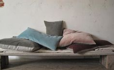 Remodelista: Sourcebook for Considered Living. Hand-dyed, cotton velvet cushion covers by Kirsten Hecktermann