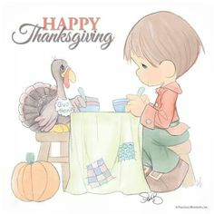 Precious Moments Precious Moments Coloring Pages, Precious Moments Quotes, Precious Moments Figurines, Moment Quotes, Thanksgiving Quotes, Happy Thanksgiving, Space Theme Preschool, Ribbon Decorations, Holiday Pictures