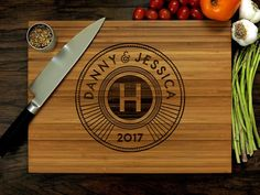 Your place to buy and sell all things handmade Custom Cutting Boards, Engraved Cutting Board, Personalized Cutting Board, Different Tones, Wood Burning Art, Bff Gifts, Personalized Wedding Gifts, Custom Engraving, Types Of Wood
