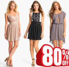 Women Dresses 80% OFF