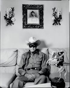 Clayton Moore as The Lone Ranger shortly before his death at 85. Who said you can't be a cowboy forever? (Photo 2of2)