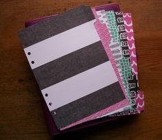 'Allsorts' A5 Planner dividers. Fits Filofax