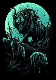 Werewolf Art by Dan Mumford Werewolf Tattoo, Werewolf Art, Fantasy Wolf, Dark Fantasy Art, Arte Horror, Horror Art, Dan Mumford, Bark At The Moon, Heavy Metal Art