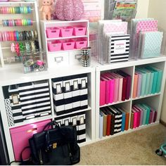 Colorful Craft Room Decoration Ideas is part of Organization bedroom Where exactly your space will be the issue to consider is You may have space So, now you have that organized, you'll need - Craft Room Storage, Office Organization, Planner Organization, Craft Rooms, Organizing Ideas, Paper Storage, Office Storage, Organization Ideas For Bedrooms, Stationary Organization