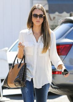 Jessica Alba out in Brentwood.