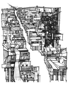 charchitectural-review: Neighbourhood Sketch by Kyle Henderson