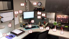 If you want to add some class to your own #cubicle, this article will show off a cubicle transformation and will detail each item in a legend beneath each image like the above!