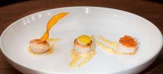 vieiras grelhadas maionese de laranja açafrao