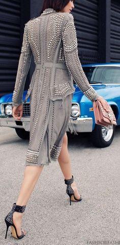 Studded Jacket  #UNIQUE_WOMENS_FASHION