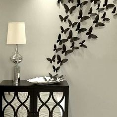 Butterfly wall decor set