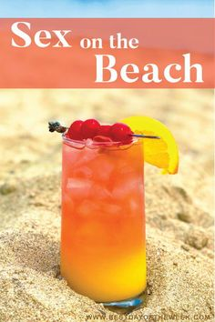 Sex on the Beach Recipe. This is a great classic cocktail, perfect for summer, a group, poolside or Malibu Cocktails, Malibu Rum Drinks, Beach Cocktails, Liquor Drinks, Refreshing Cocktails, Classic Cocktails, Cocktail Drinks, Cocktail Recipes, Vodka Cocktails