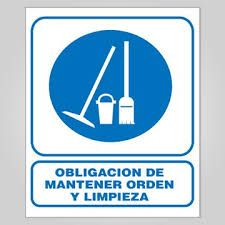 Resultado de imagen de carteles de limpieza
