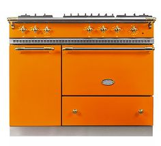 Saulieu offers versatile cooking options with two ovens – a large oven (W. Orange Kitchen, Kitchen, Kitchen Inspirations, Home Kitchens, New Kitchen, Home, Sweet Home, Kitchen Decor, Range Cooker