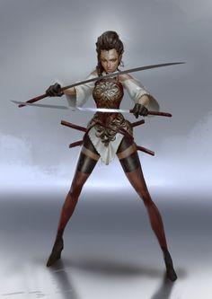 ArtStation - Late night Sword Lady, Even Amundsen