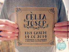 INVITACIONES DE BODA: CÈLIA & JOSEP - El blog de Laücreativa