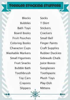 Stocking Stuffer Ideas for Toddlers (All Ages)