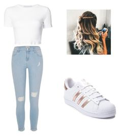 """""""School outfit"""" by mikayla714 on Polyvore featuring River Island, Rosetta Getty and adidas"""