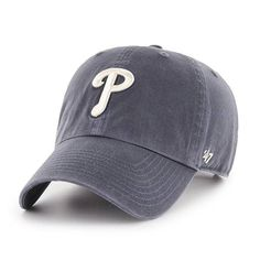 best sneakers dc607 df8f7 Philadelphia Phillies 47 Brand Vintage Navy Clean Up Adjustable Hat