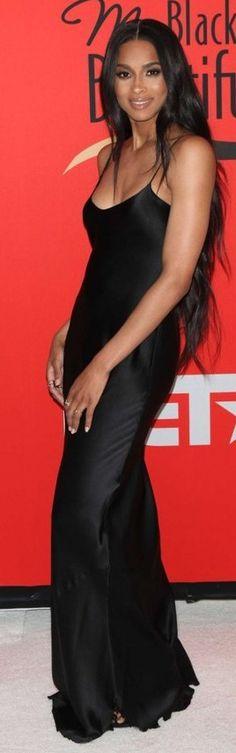 Ciara in Nili lotan maxi cami dress in black