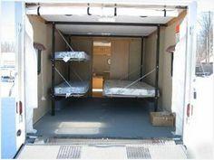 New Truck Bed Camper Toy Hauler Ideas Enclosed Trailer Camper Conversion, Utility Trailer Camper, Toy Hauler Camper, Cargo Trailer Conversion, Box Trailer, Enclosed Trailers, Cargo Trailers, Camper Trailers, Converted Cargo Trailer