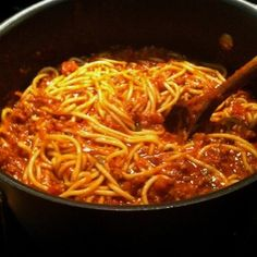 Homemade Spaghetti - My Mother's recipe that's been used for many a fundraising supper over the years. Recipe