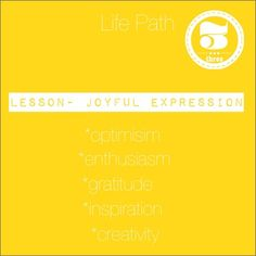 The lesson for those on the 3 Life Path is to learn to express themselves, to…