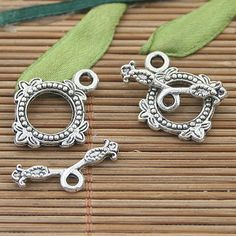 20sets dark silver tone toggle clasps h3190 by callie6688 on Etsy