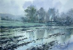 After the rain. 36 x 50 cm.