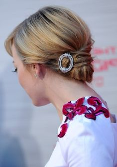 Emma Stone Hairstyles - Back View of Elegant Updos - Find more hairstyles on http://hairstylesweekly.com