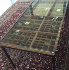 from recreatekate thompson - coffee table from printer's tray