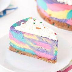 Unicorn Cheesecake Is a Delicious Dream Come True No-Bake Unicorn Cheesecake?No-Bake Unicorn Cheesecake? Cute Desserts, No Bake Desserts, Delicious Desserts, Dessert Recipes, Yummy Food, Easy Easter Desserts, Food Cakes, Mini Cakes, Cupcake Cakes