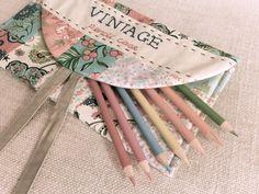 Handmade Vintage Fabric Pencil Case