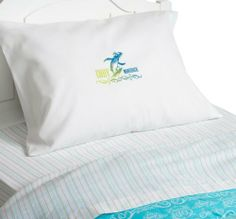 Surf's Up Cody Twin Sheet Set by Surf's Up. $29.99. Pillowcase stamped with Cody Maverick's name. Machine washable for easy care. Made of 60 percent cotton, 40 percent polyester. Complete kids' sheet set for Twin beds, includes one fitted sheet, one flat sheet, and one pillowcase. Beach-inspired aqua multi-stripe pattern against white base. Shiverpool, Antarctica native Cody Maverick is an undersized Rockhopper penguin with an oversized yearning to be a winner. Because he thinks ...