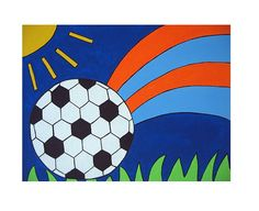 Soccer Picture Hand Painted Wall Art by AntonMurals o