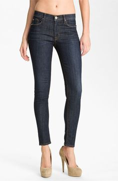 Hudson Jeans 'Nico' Mid Rise Skinny Jeans.  These are my favorite jeans for snug fit.  So flattering!
