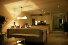 Living room & open kitchen. (Hodenpijlkade 1058 LZ Amsterdam | Expat Housing)