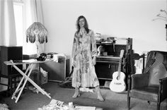 David Bowie, at home publicity pic 1971.