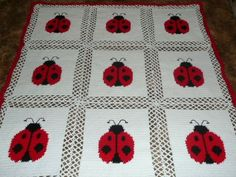 Free Crochet Ladybug Blanket Pattern : 1000+ images about Afghans on Pinterest Blankets ...