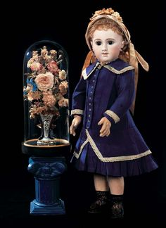 In the Mind's Eye - The Geri Baker Collection: 131 Very Rare French Bisque Bebe E.J.A. with Original Costume and Box