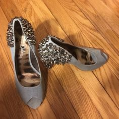 Sam Edelman Used but in good condition super cute for party's. Light blue denim color. No low ball offers and no trades Sam Edelman Shoes Heels