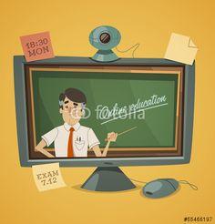 Wektor: Online education