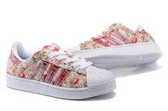 Adidas Superstar Damen Originals Blumen Vertraglich Gehen Schuhe G50988-2…