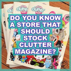 Do you know a store who you would love to stock #cluttermagazine? Tag them in post comments, drop us an email to info@cluttermagazine.com…